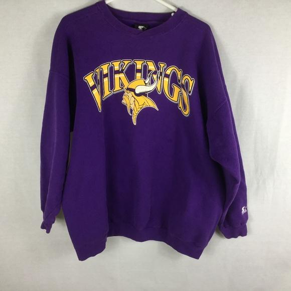 VTG Minnesota Vikings Starter NFL Crewneck Sweatsh.  M 5b6861763c98442d7f85b083 16460b2db